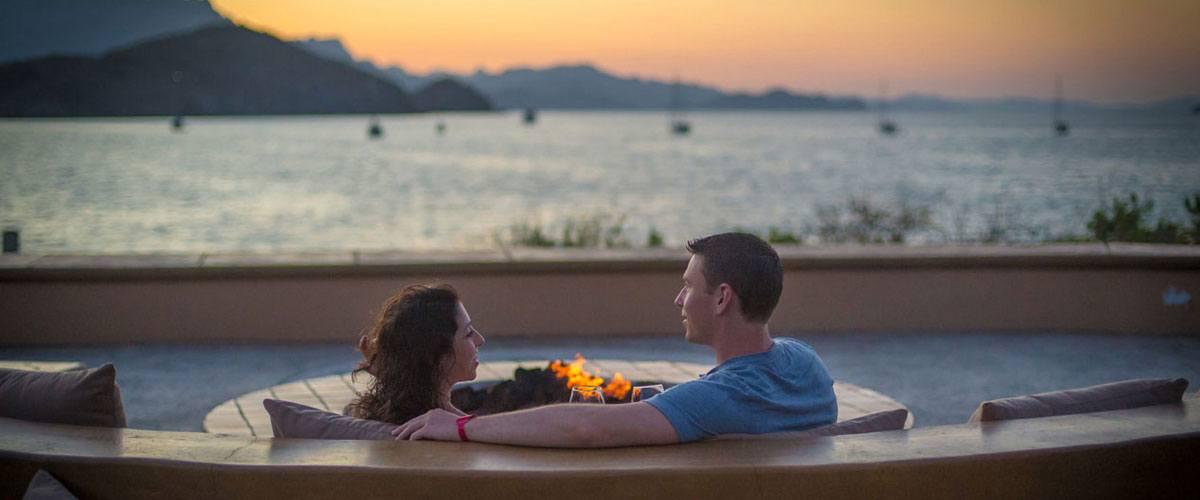 Villa del Palmar Islands of Loreto View romantic campfire