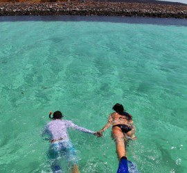 Snorkelling at Villa del Palmar at the Islands of Loreto