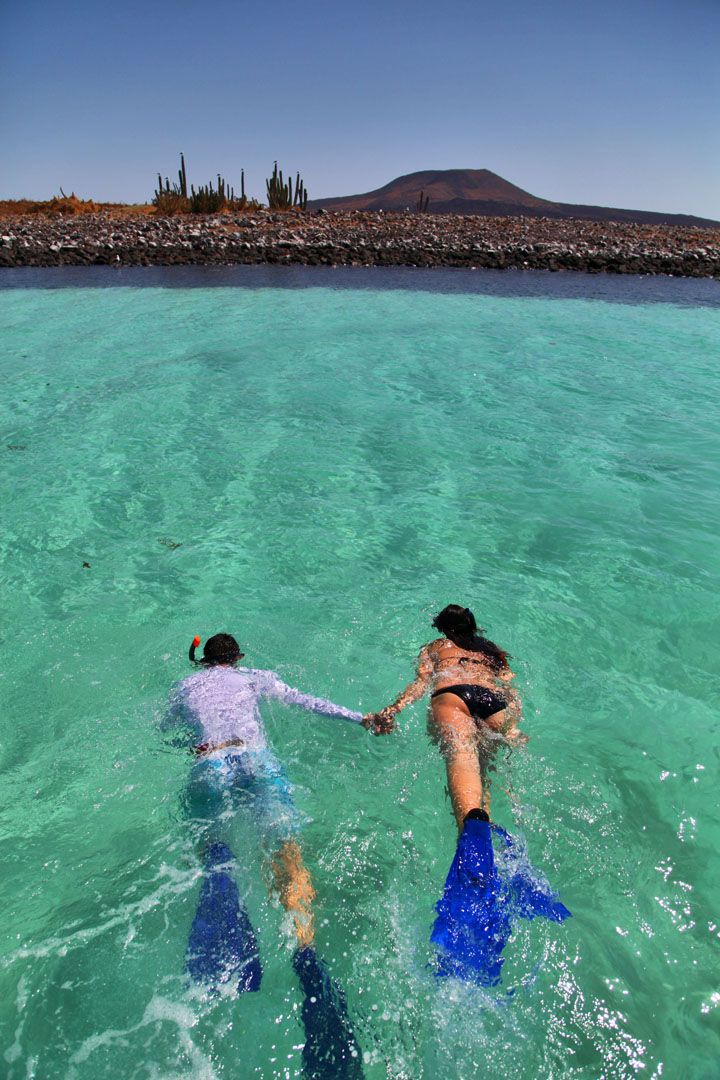 Snorkelling at Villa del Palmar at the Islands of Loreto