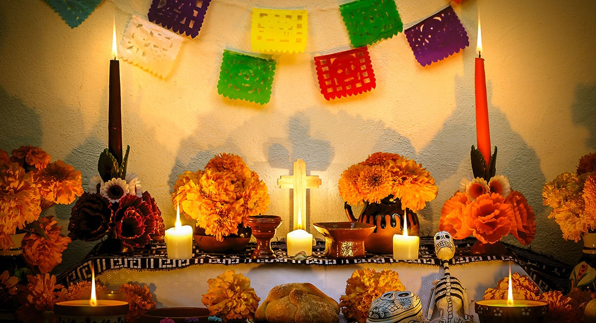 Altars for Day of the Dead Celebration