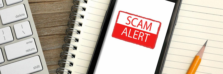 Scam alert message